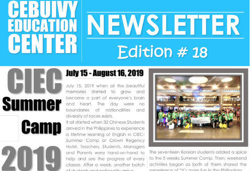 Newsletter Aug. 2019